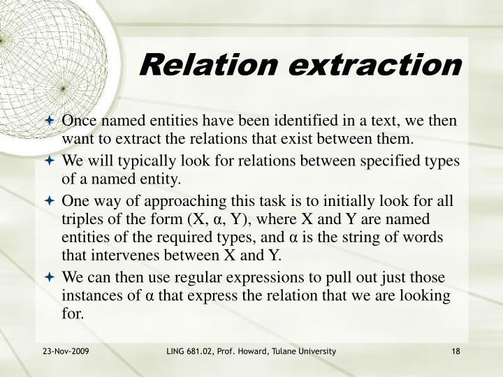 Relation extraction
