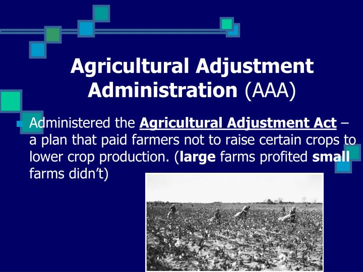 Agricultural Adjustment Administration