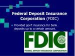 federal deposit insurance corporation fdic