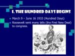 i the hundred days begins