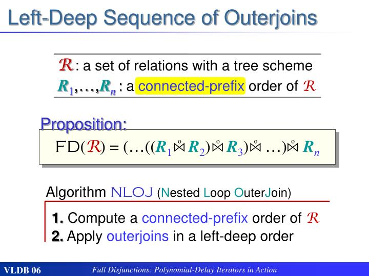 Left-Deep Sequence of Outerjoins