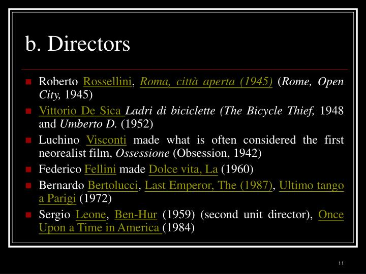 b. Directors
