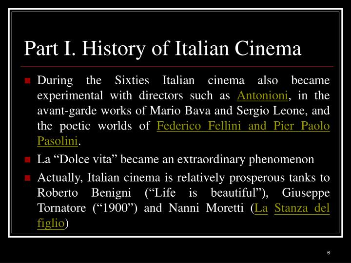 Part I. History of Italian Cinema
