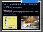 drum and wiped film dryers
