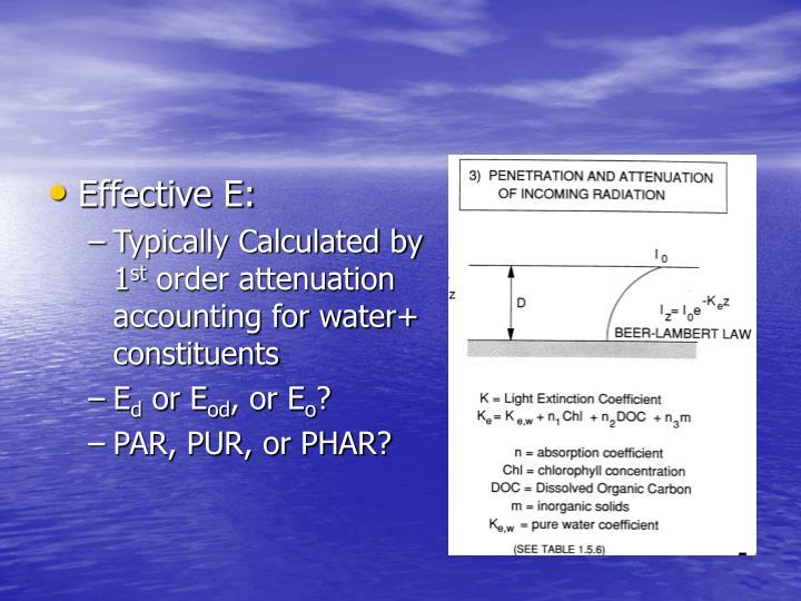 Effective E: