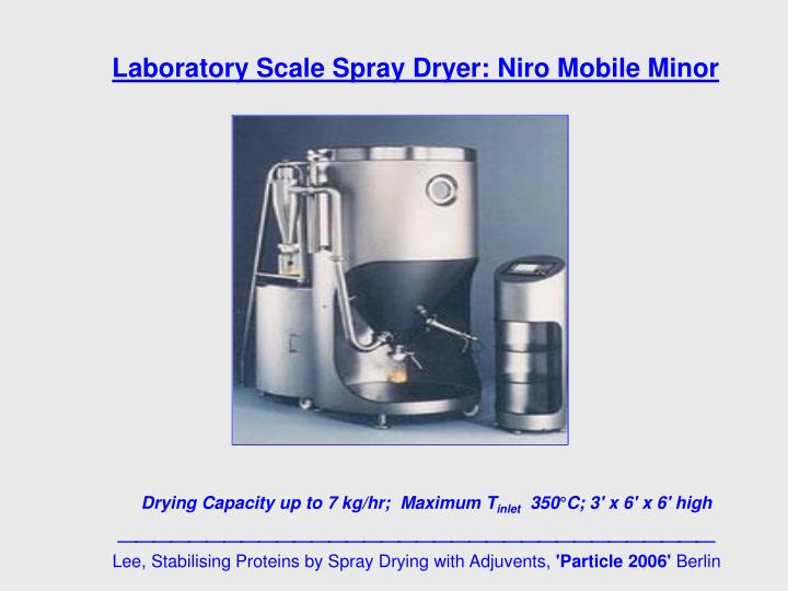 Laboratory Scale Spray Dryer: Niro Mobile Minor