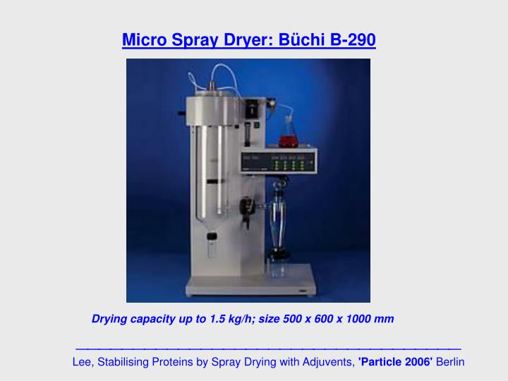 Micro Spray Dryer: Büchi B-290