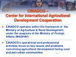cinadco center for international agricultural development cooperation