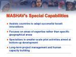 mashav s special capabilities