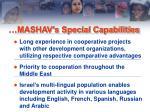 mashav s special capabilities1
