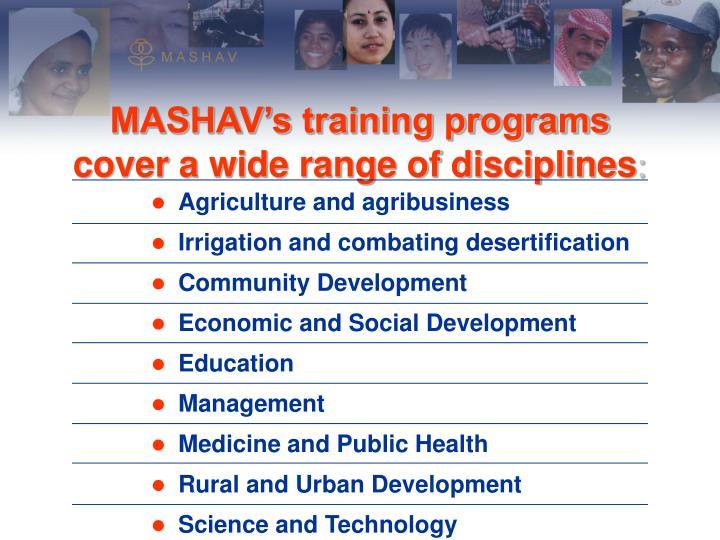 MASHAV's training programs