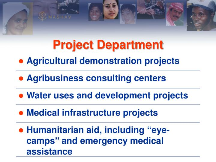 Agricultural demonstration projects