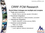 crrf fcm research1