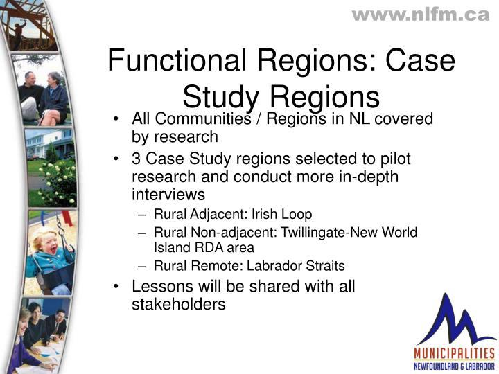Functional Regions: Case Study Regions