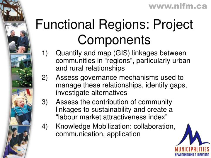 Functional Regions: Project Components