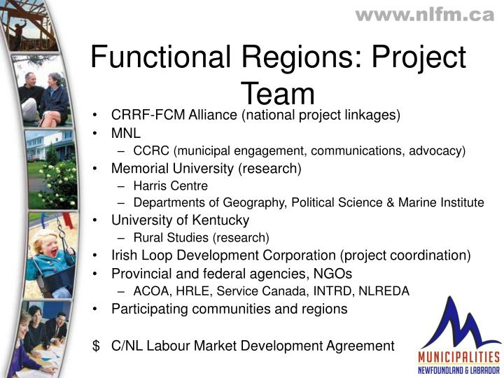 Functional Regions: Project Team