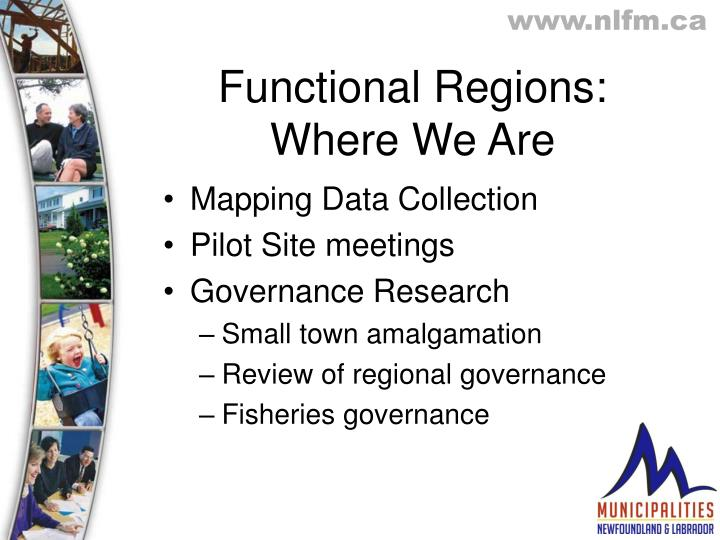 Functional Regions: Where We Are