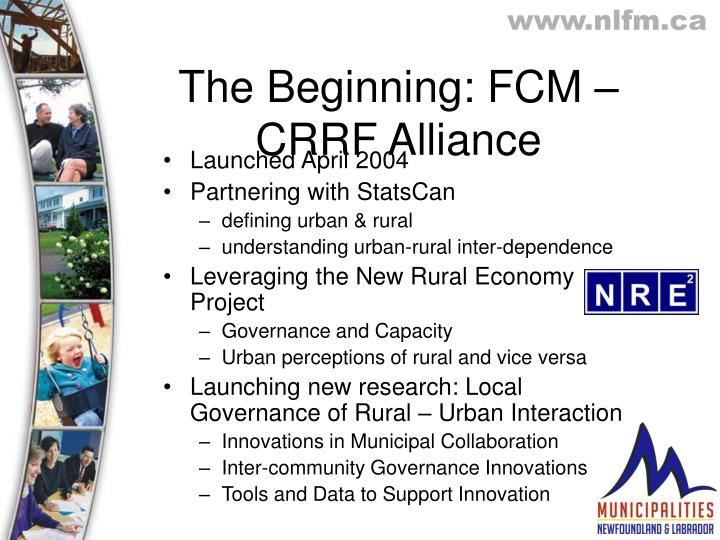 The Beginning: FCM – CRRF Alliance