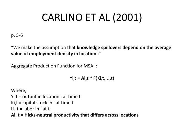 CARLINO ET AL (2001)