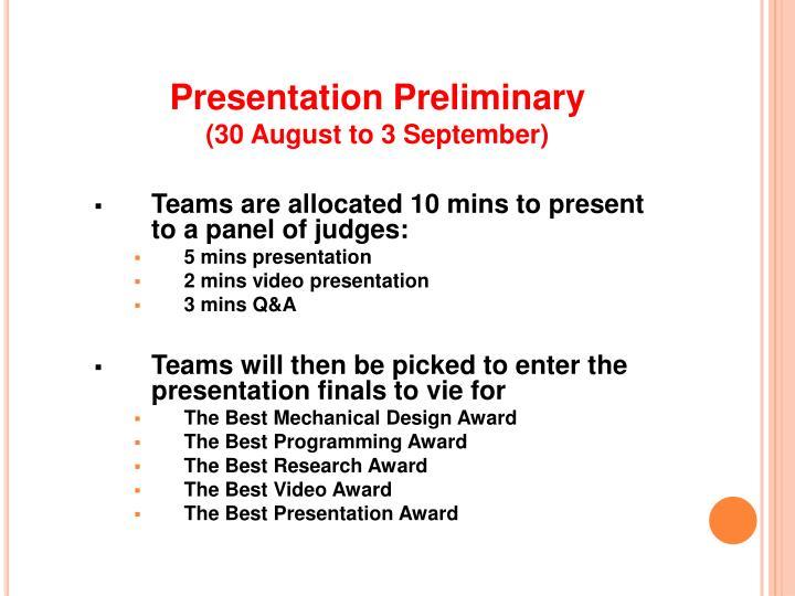 Presentation Preliminary