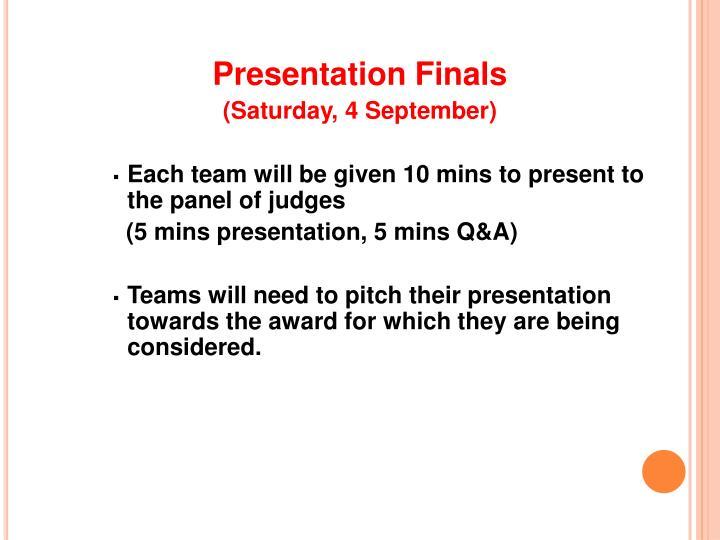 Presentation Finals