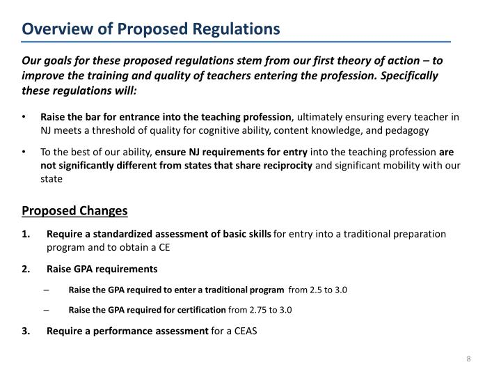 Overview of Proposed Regulations