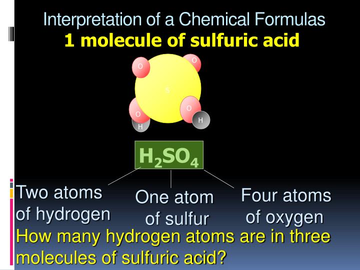 Interpretation of a chemical formulas