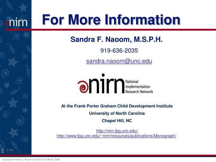 Sandra F. Naoom, M.S.P.H.