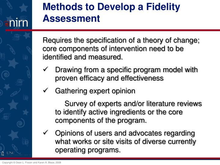 Methods to Develop a Fidelity Assessment