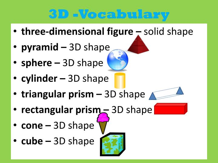 3D -Vocabulary