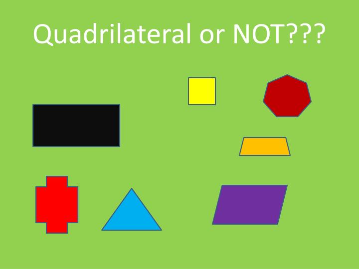 Quadrilateral or NOT???