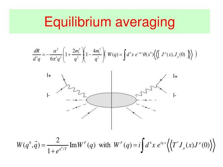Equilibrium averaging