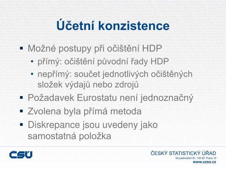 Účetní konzistence