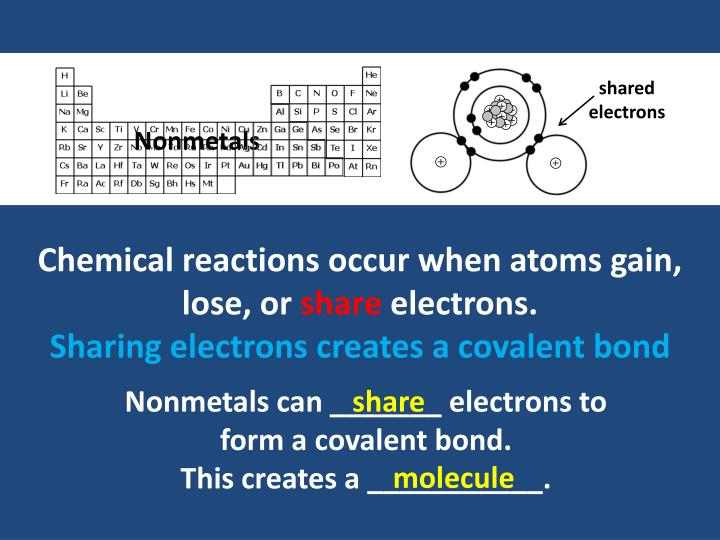 shared electrons