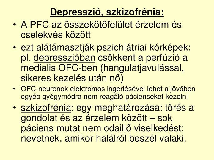 Depresszió, szkizofrénia: