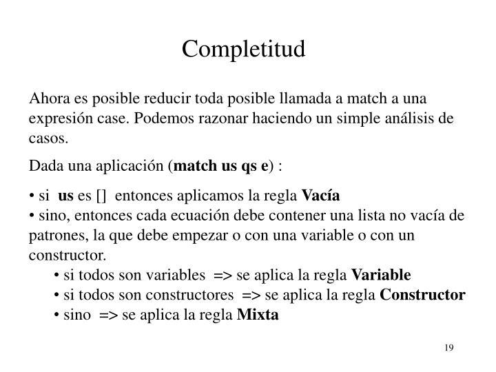 Completitud