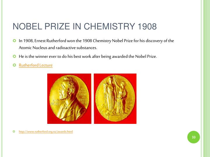 NOBEL PRIZE IN CHEMISTRY 1908