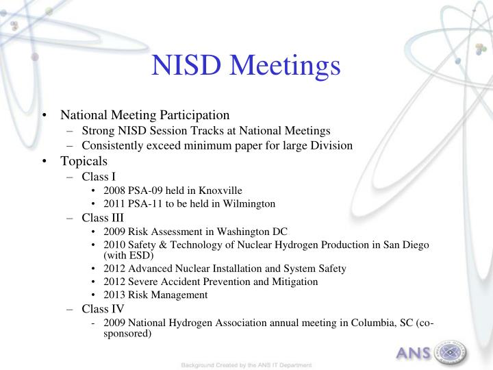 NISD Meetings