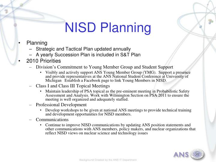 NISD Planning