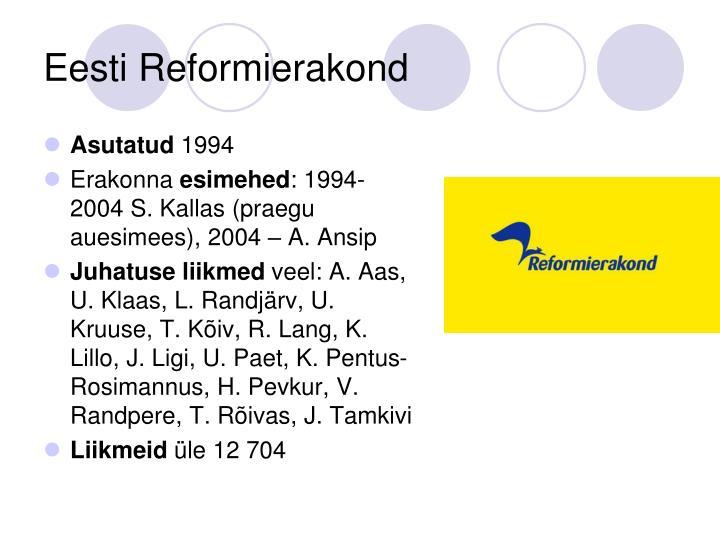 Eesti Reformierakond