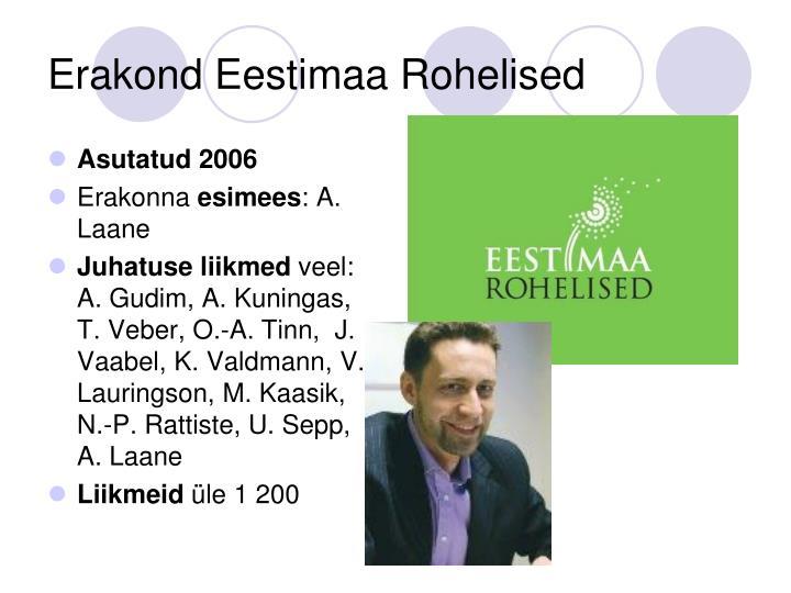 Erakond Eestimaa Rohelised