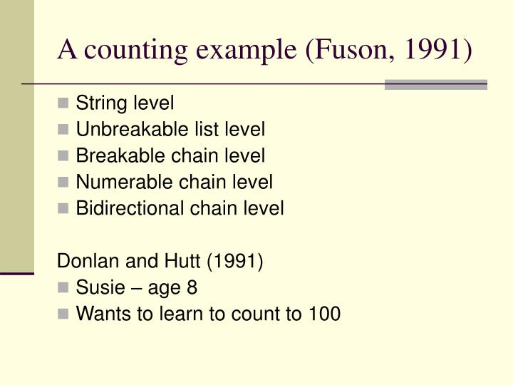 A counting example (Fuson, 1991)