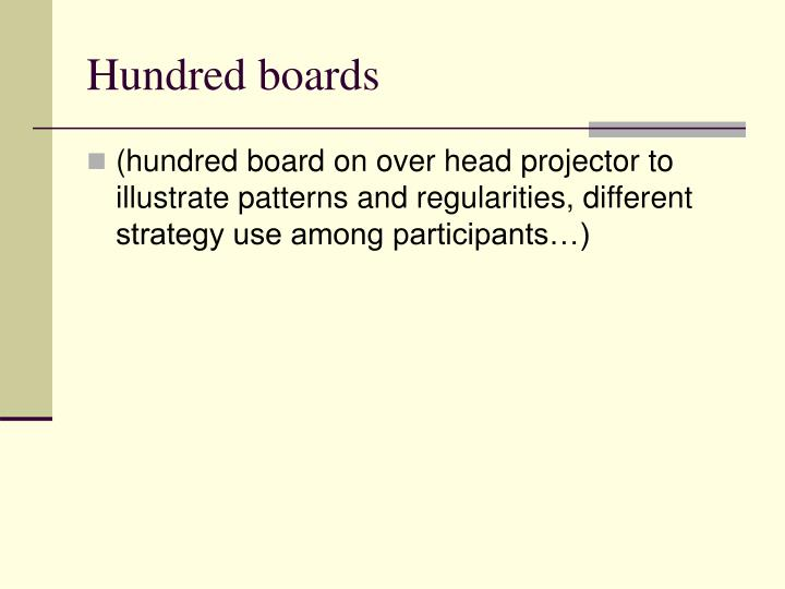 Hundred boards