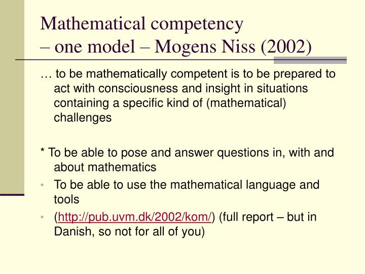 Mathematical competency