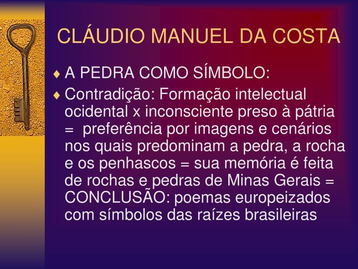 CLÁUDIO MANUEL DA COSTA