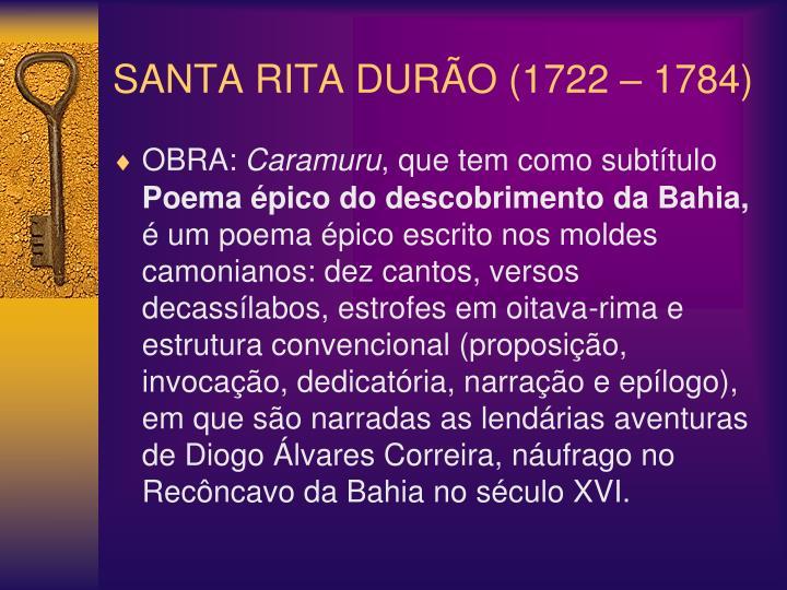 SANTA RITA DURÃO (1722 – 1784)
