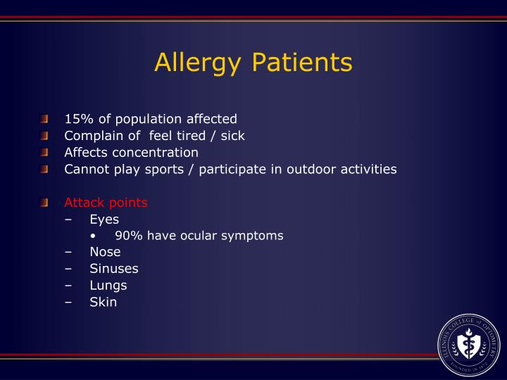 Allergy Patients