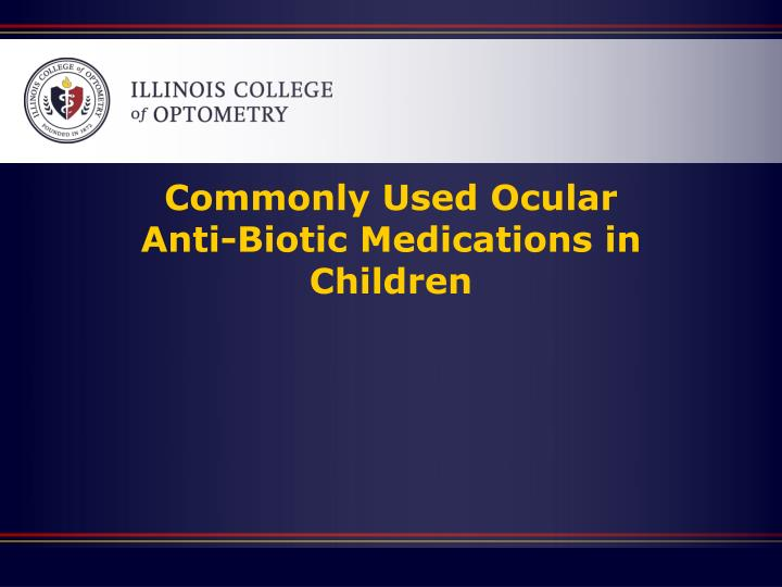 Commonly Used Ocular