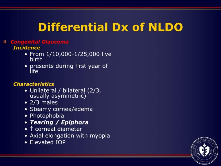 Differential Dx of NLDO