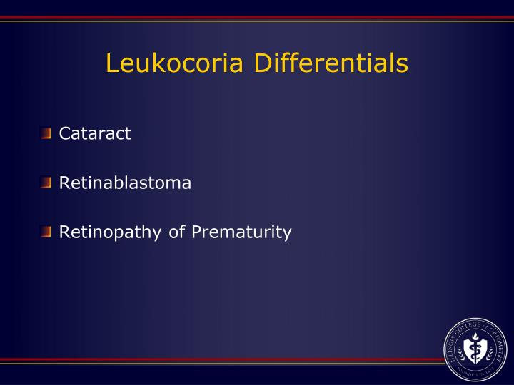 Leukocoria Differentials